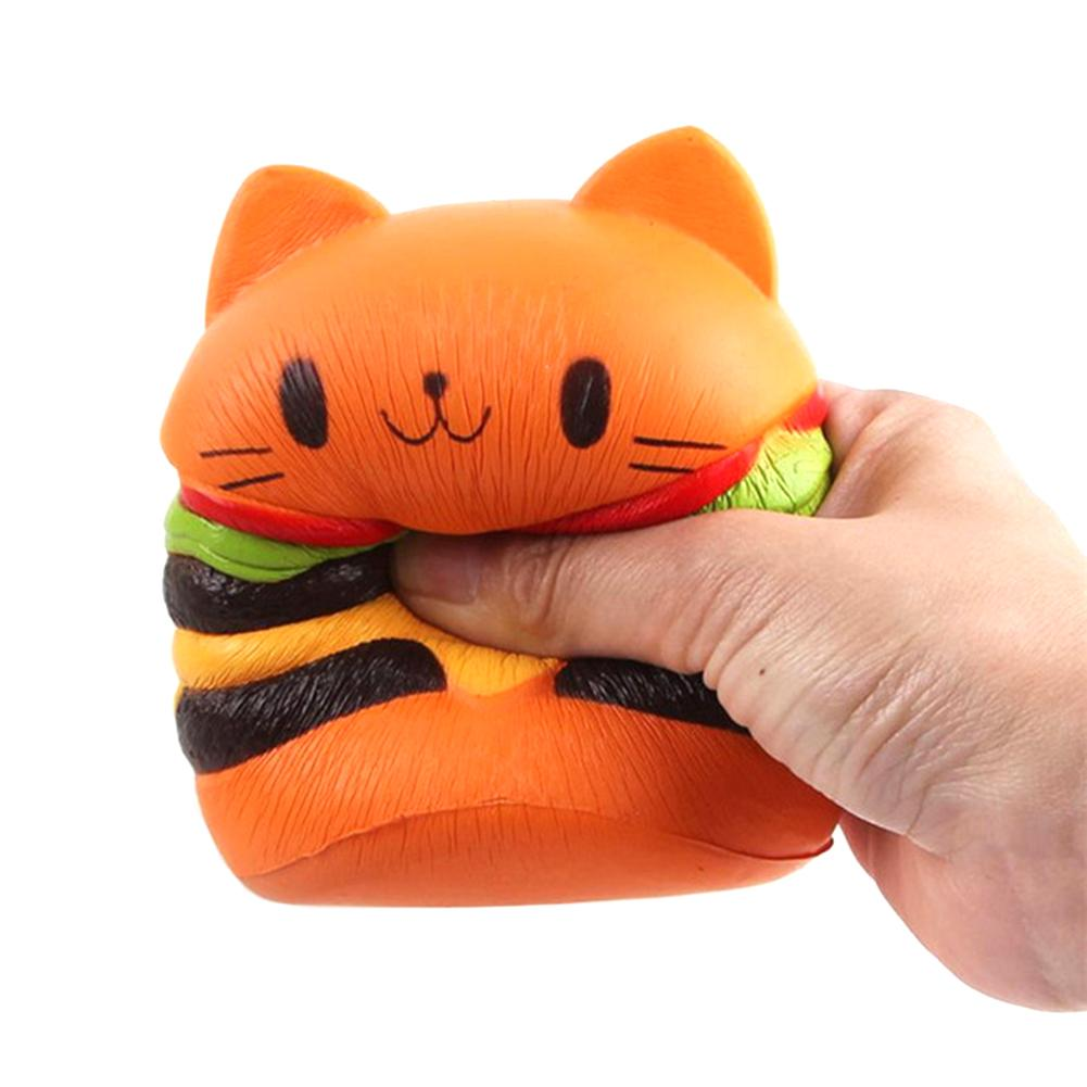 1 Pc Squeeze Hamburger Cat Toys 10*8cm Environmentally Pu Non-toxic Squishies Exquisite Antistress Squish Soft Slow Rising Toy Novelty & Gag Toys Toys & Hobbies