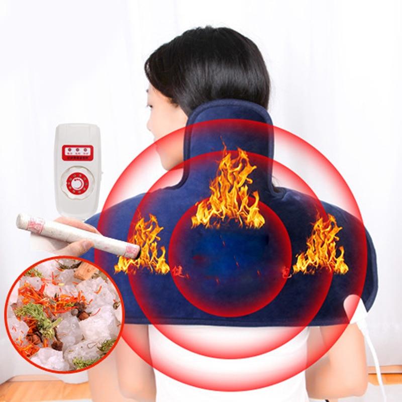 Electric Moxibustion+salt shawl neck Cervical and shoulder heating pad cervical heating blanket Multiple protection health care
