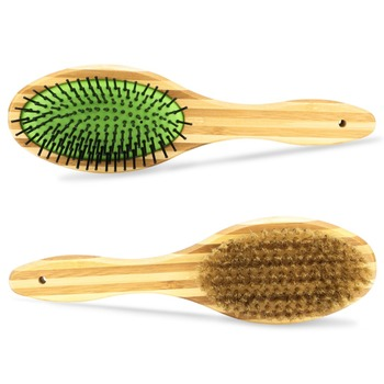 Professional Double Sided Pin & Bristle Bamboo Brushes  1