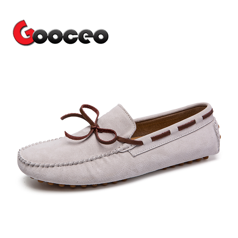 Men's Loafers Moccasins Flats Driving Doug Shoes Boat Slip-On For Men Spring Suede Leather Casual Flat Nubuck Handmade Leisure 2