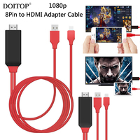 DOITOP 1080P 8 Pin To HDMI Cable HDTV Digital AV Adapter Smart Converter HDMI Cable For
