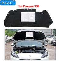 RKAC 1 PCS car styling For Peugeot 308 Engine hood sound heat insulation cotton accessories flame retardant material hot sales