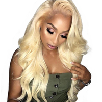 150 % Density Body Wave 613 Blonde Lace Front Wig Human Hair Wigs For Women 13x4 Pre Plucked Brazilian Wig Bleached Knots Remy