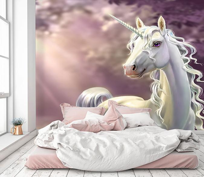 [Self-Adhesive] 3D Sunshine Unicorn 7 Wall Paper Mural Wall Print Decal Wall Murals