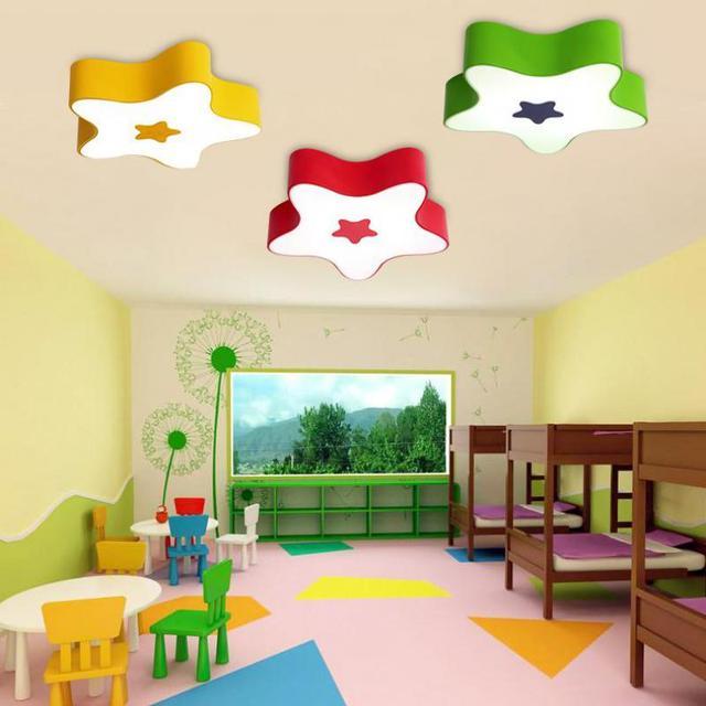 kindergarten Novelty star LED light Luminaire for sitting Room Acrylic LED ceiling Lights children ceiling lamp led Luminaria