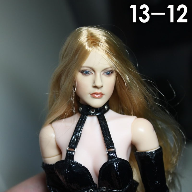 1/6 Scale CG CY Girl Female Head Sculpt for 12 Inches Women Figures Bodies with Long Blond Hair