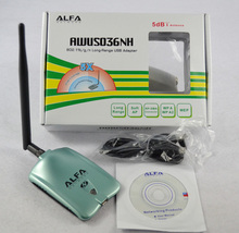 High Copy ALFA AWUS036NH Network  Ralink 3070L Wifi Network Card 2000MW ALFA  Wireless WiFi USB Adapter with 5dbi anenna 1Set