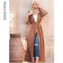 7f011dfcb5 Elegante adulto Abaya musulmán árabe turco sólido Cardigan abalorios  Appliques Jilbab Dubai Abaya mujeres vestidos ropa islámica.