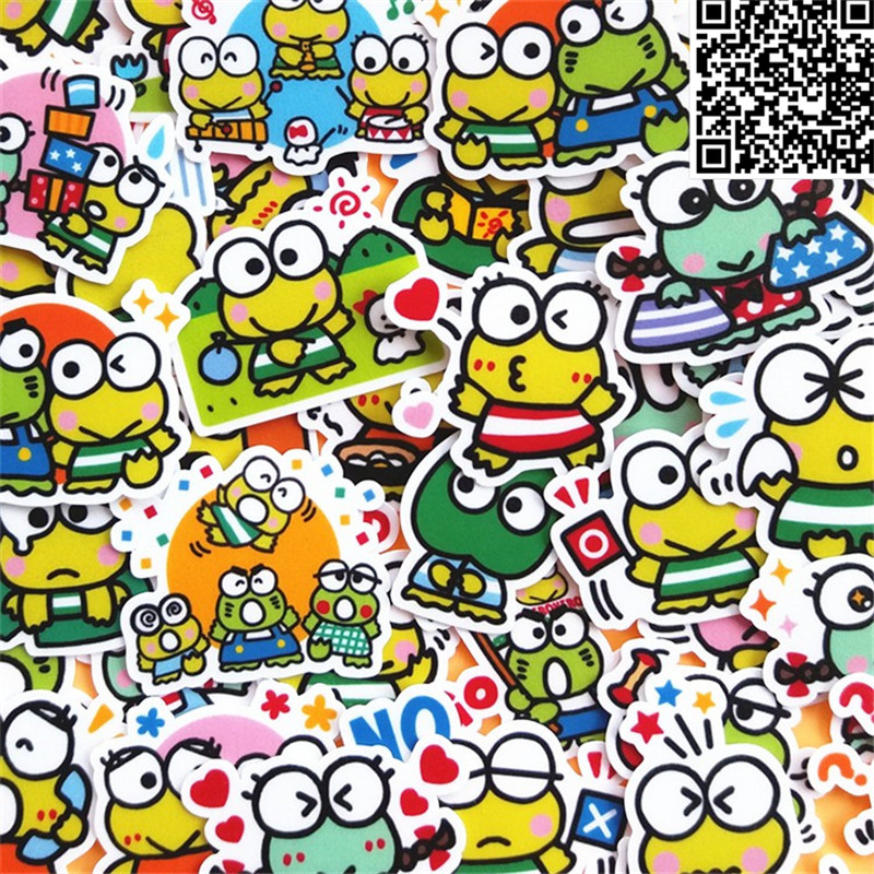 42 Pcs  Cute little frog Sticker For Luggage Skateboard Phone Laptop Moto Bicycle Wall Guitar/Eason Stickers/DIY Scrapbooking42 Pcs  Cute little frog Sticker For Luggage Skateboard Phone Laptop Moto Bicycle Wall Guitar/Eason Stickers/DIY Scrapbooking