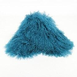 Heißer Verkauf Frauen Wintermode Casual Natürliche Mit Kapuze Große Furs Echt Mongolei Schafe Pelzkragen Gute Qualität größe 88*22 Almofada