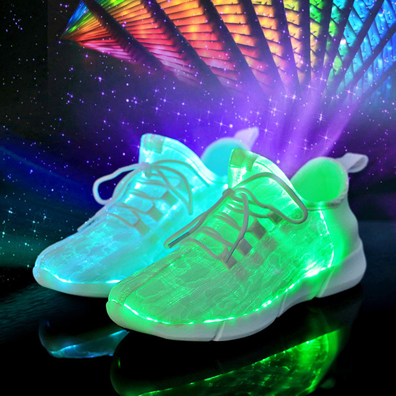 ae840d3a17 Světelné tenisky pro chlapce Dívky Bílá LED svítící svítící boty ...