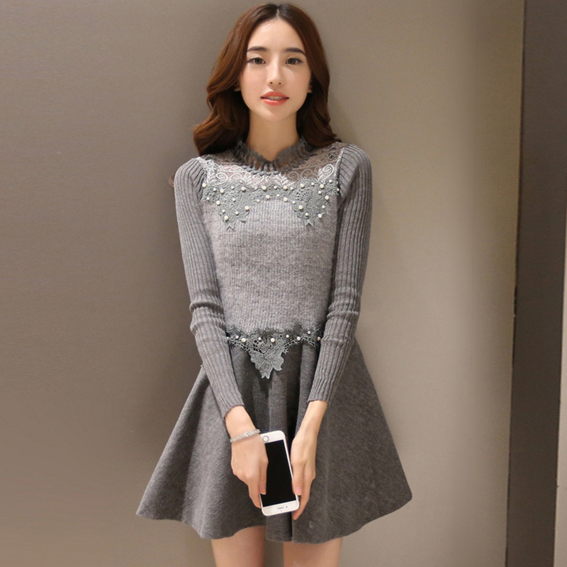 hot sale winter women warm dress ladies casual dresses
