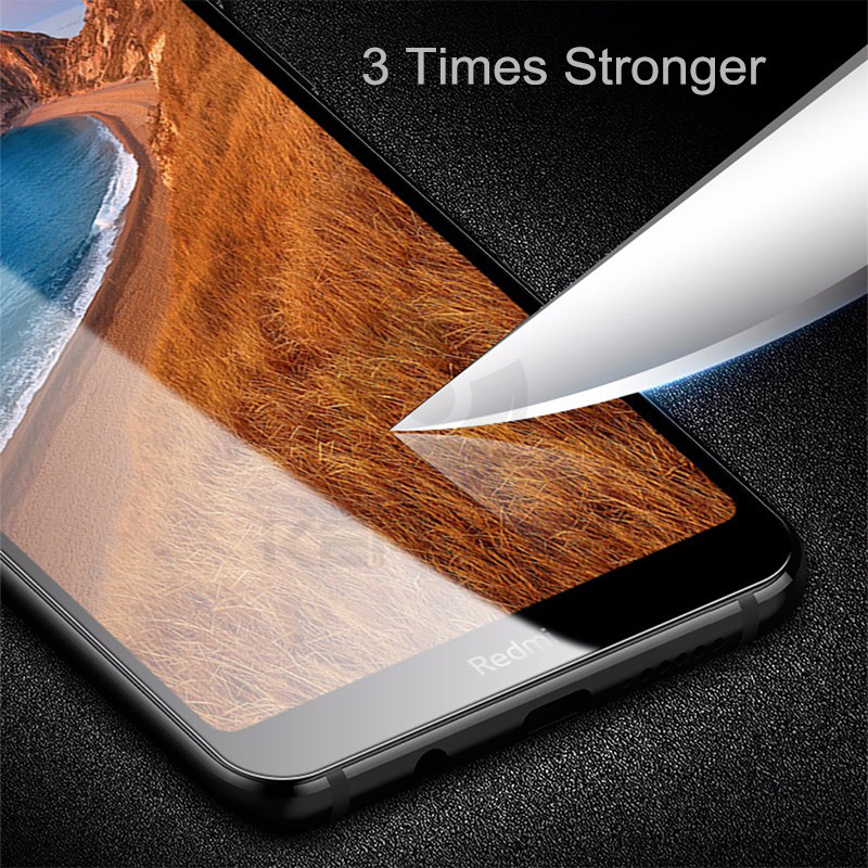 Keajor Glass For Xiaomi Redmi 7A Tempered Glass Full Cover Screen Protector Scratch Proof Protective Glass For Redmi 7A 7 A Film in Phone Screen Protectors from Cellphones Telecommunications