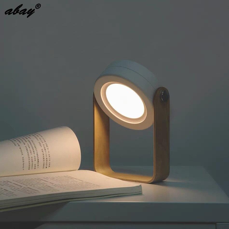 Abay LED Night Light Foldable LED Wooden Portable Lantern Bedside Lamp For Children Book Light Children's Bedroom Luminary|LED Night Lights| |  - title=