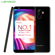 Оригинальный leagoo M9 сотовый телефон 5.5 дюймов 18:9 полный Экран 2 ГБ Оперативная память 16 ГБ Встроенная память mt6580a 4 ядра android 7.0 2850 мАч смартфон