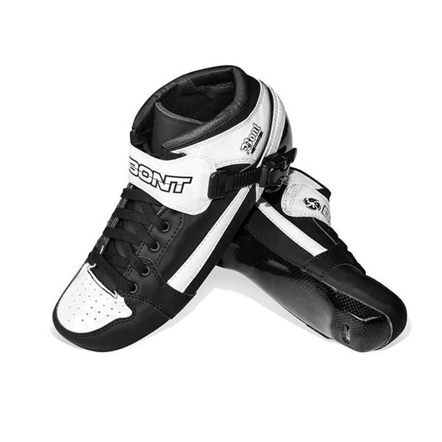 Original Bont Pursuit Professional Speed Inline Roller Skates Boot Heatmoldable Carbon Fiber Patines Liner for Kids Men Adult цена