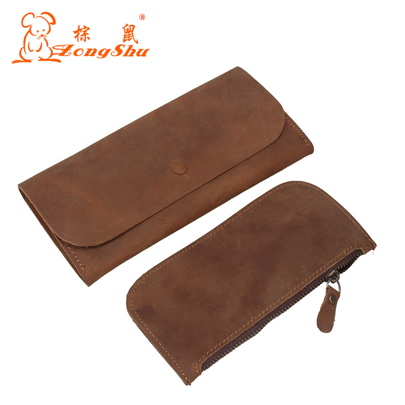 Crazy Horse Genuine Leather Vintage Antique Wallet Luxury 2018 Travel Simple Processed Men Purse (customization available) gathersun the secret life of walter mitty retro wallet handmade custom vintage genuine wallet crazy horse leather men s purse