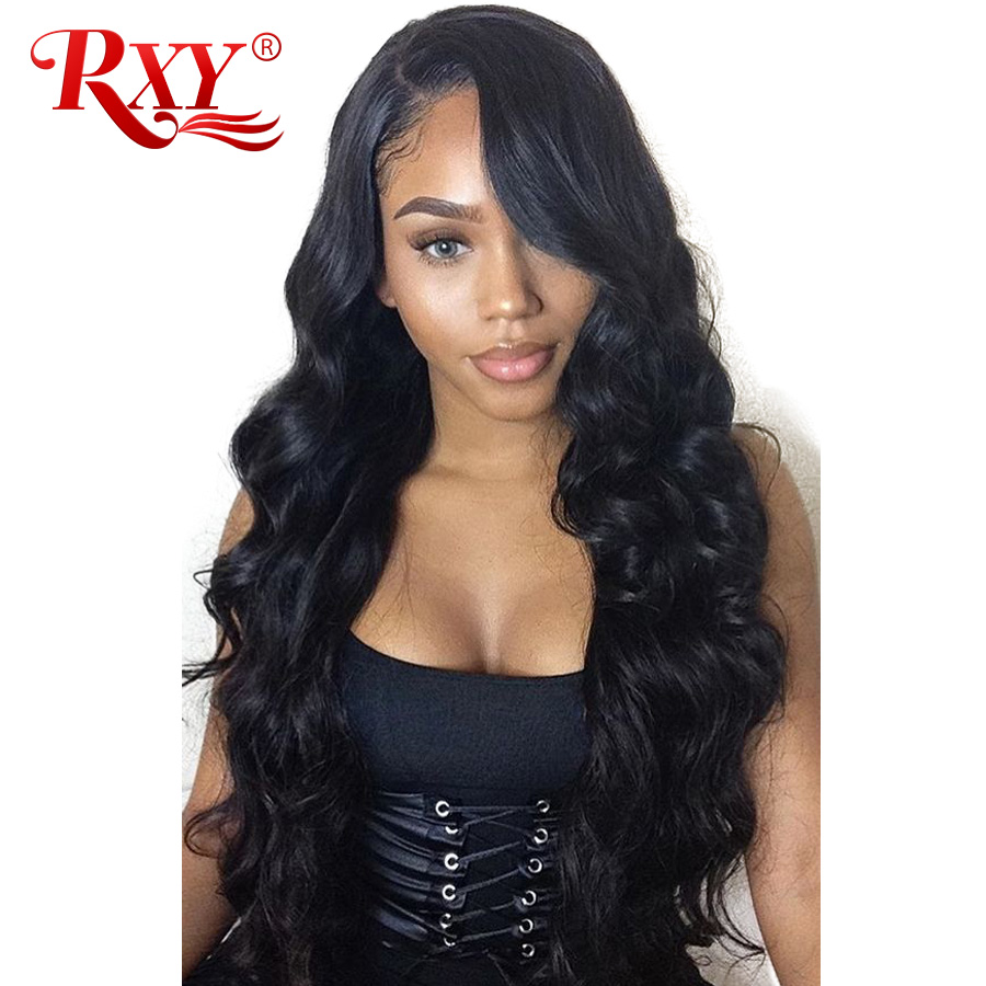 RXY Hair Peruvian Body Wave Wig Guleless Lace Front Human Hair Wigs For Black Women 13x6 Lace Front Wig With Baby Hair Non Remy (3)