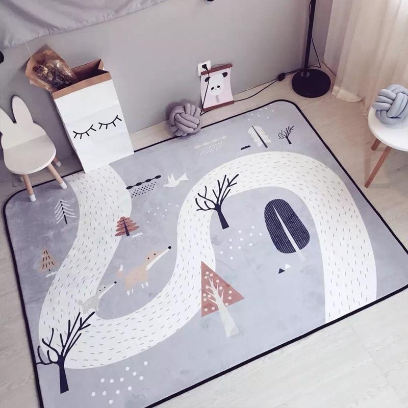 150X195CM coréen Fox tapis enfants chambre bande dessinée tapis doux décor à la maison chambre tapis canapé Table basse tapis de sol bébé Tatami tapis
