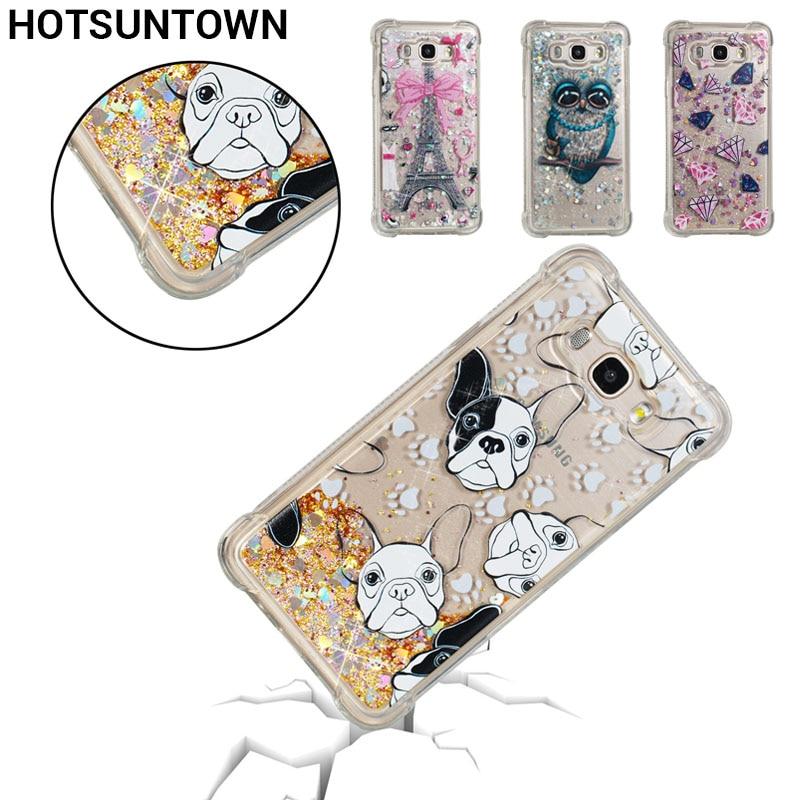Silicone Soft Case For Coque Samsung Galaxy J3 2016 Case Transparent TPU Back Cover J1 J5 J7 2016 Phone Case Dynamic Liquid Dot