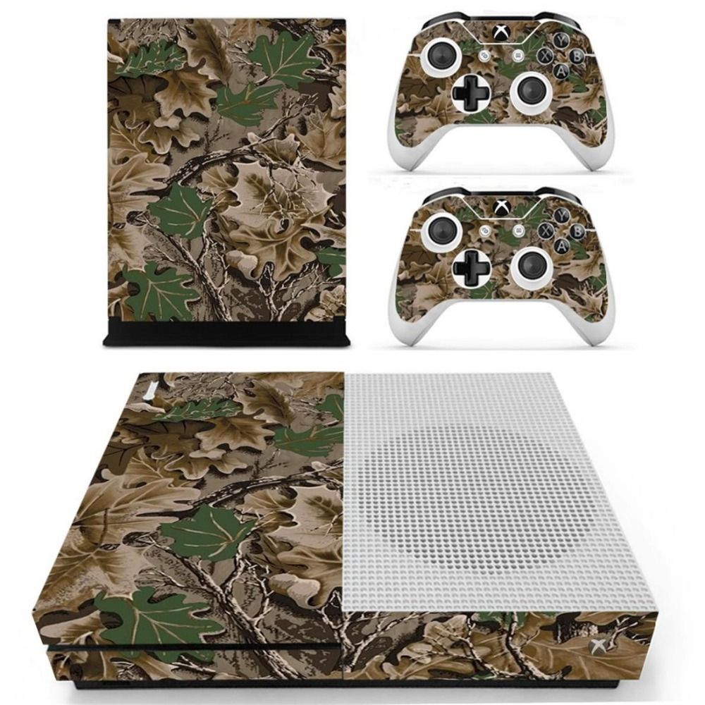 S0044 Game accessories Skin Sticker for Microsoft Xbox One Slim Console and 2 Controllers skins Stickers for XBOXONE Slim
