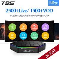 ВМС ТВ подписки оригинальный T95Z плюс 3 GB 32 GB Android 7,1 ТВ Box 4 K H.265 S912 1 год ВМС ТВ товара Европа шведский французский IPTV Box
