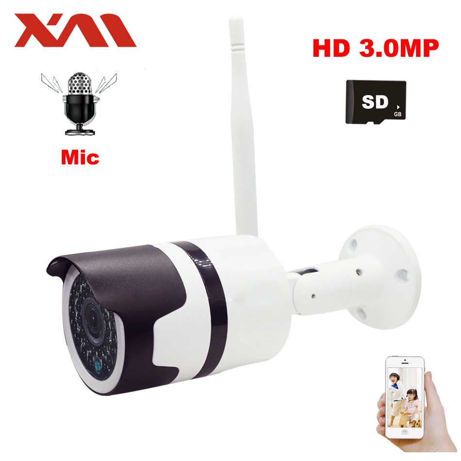 Surveillance Cameras Security & Protection Heanworld 3mp Hd Wifi Camera Outdoor With Microphone Ip Camera Sd Slot Home Camera Wireless Waterproof Surveillance Cctv Camera