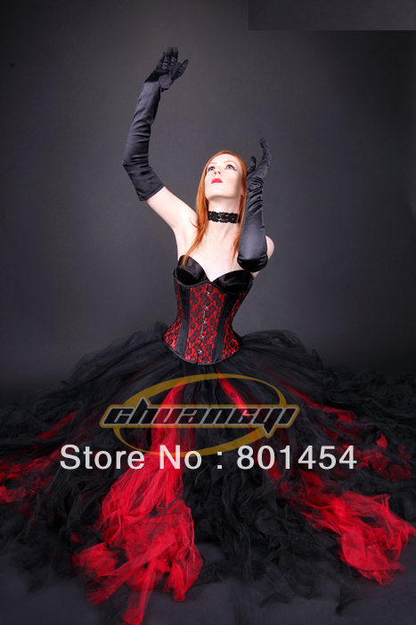 Free shipping!!! Sexy gothic Corset Dress Burlesque ...