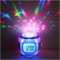By DHL Or EMS 50 Pcs Children Sleeping Sky Star Night Light Projector Lamp Bedroom Alarm