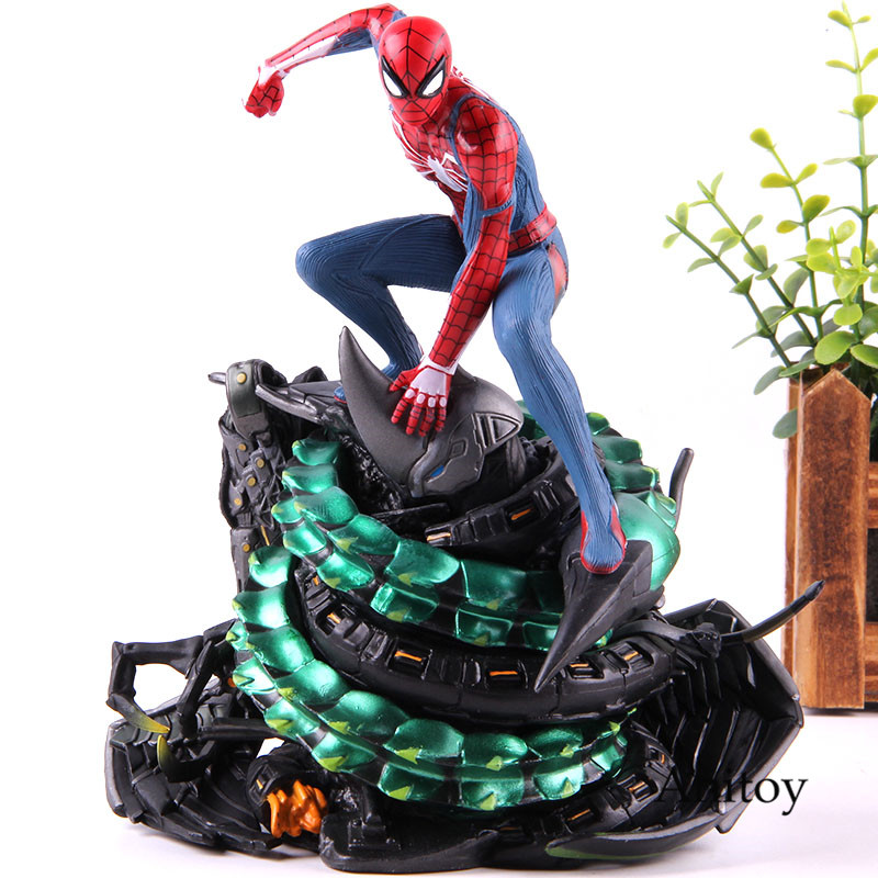 Spider man PS4 Spiderman Statue Figure Action Spider man Model Collectible Toy on playstaion -in Action & Toy Figures from Toys & Hobbies