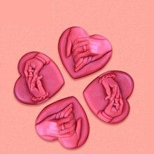 Силиконовые Формы Ручной Романтический DIY День святого валентина подарок мыло формы пищевой плесени мыло ручной работы