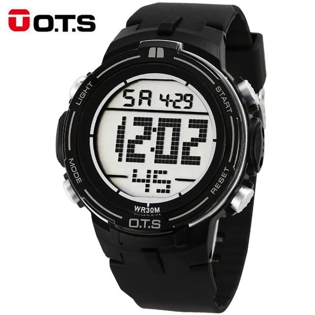 081a7b18cb30 2017 Nuevo OTS marca de lujo para hombre Relojes deportivos digital LED  Militar reloj hombres moda
