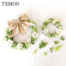 Vintage Moss Sen door decoration simulation dry flower wreath Wall decoration floral living room bedroom wall door pendant(China)