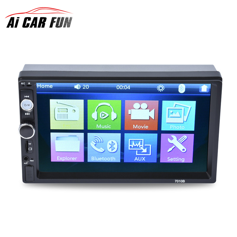 7010B Bluetooth 2 Din 7 inch Touch Screen Car Radio Tuner Audio Autoradio MP5 Player Support FM/MP5/USB/AUX USB Charger недорого