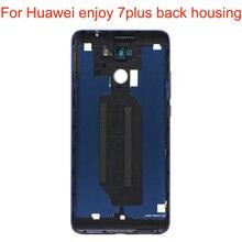 Jpfix Батарея задняя крышка Корпус для Huawei Enjoy 7 Plus Y7 Prime задняя крышка Корпус Замена с технологией сканирования отпечатков пальцев