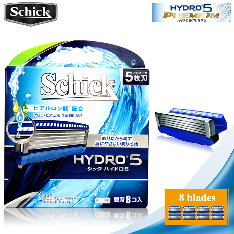 8 blades/lot Original Schick Genuine Hydro 5 razor blades New Package Best Shaving Replacement for man replacement 1 razor 17 blades set new 2018 genuine original schick ultra blue razor set for all schick ultra razors man vitamin e
