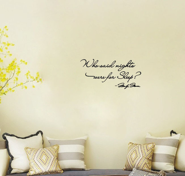 Who Said Nights Were For Sleep Marilyn Monroe Wall Decals Home Decoration  Wallpaper Home Decorative Stickers Part 49