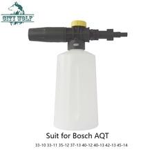 Arruela de alta pressão, sabonete lançador de espuma de neve para bosch aqt 33 10 33 11 35 12 37 acessórios para máquina de lavar carro 13 40 12 40 13 42 13 45 14