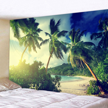 Coconut Time Scenery Print Wall Tapestry Cheap Hippie Wall Hanging Hohemian Tapestry Tapestry Mandala Wall Art Decorat все цены