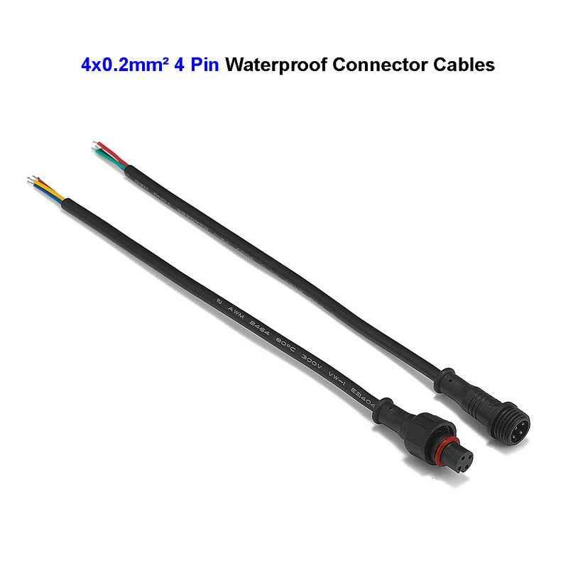 LED Bar światła 4 Pin wodoodporna zasilania przewód łączący 0.2mm dla 5630 5050 RGB sztywne taśma świetlna prowadził podziemny światło