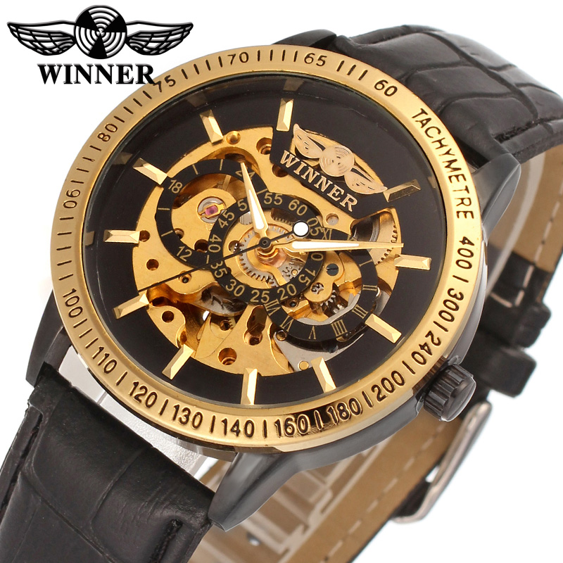 Genuine Leather Belt Watches Men Watch Gold Skeleton Business Sports Male Clock Automatic Mechanical Luminous Hands Relojes automatical mechanical watches men luxury brand watch male clock leather wristwatch men skeleton casual business gold watch