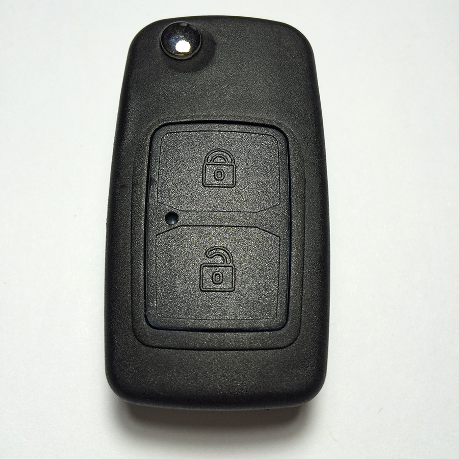 New Arrival 2 Button Folding Remote Key For Chery Tiggo 433MHZ 315MHZ With Uncut Blade