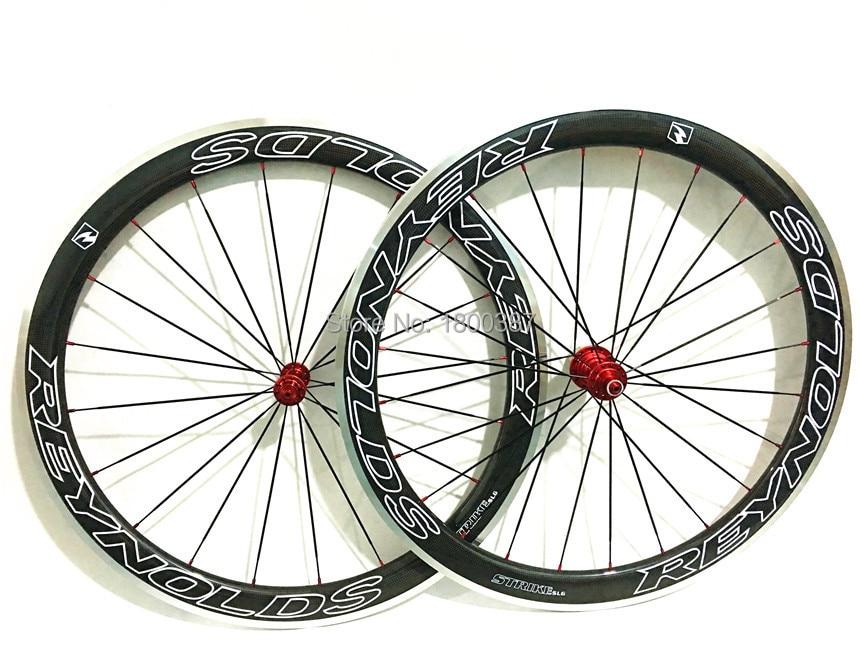 50mm 3K Carbon Road Bike 700C Clincher wheelset wheel Rim 50mm hub / spoke / nipple ( rim with alloy side ) bicycle wheel set