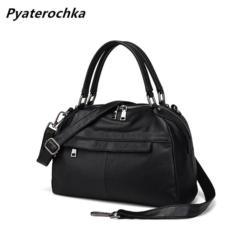 все цены на Pyaterochka Women Handbag Genuine Leather Shoulder Bags Cheap Real Leather Handbags High Quality Casual Totes Luxury Bao Bao Bag