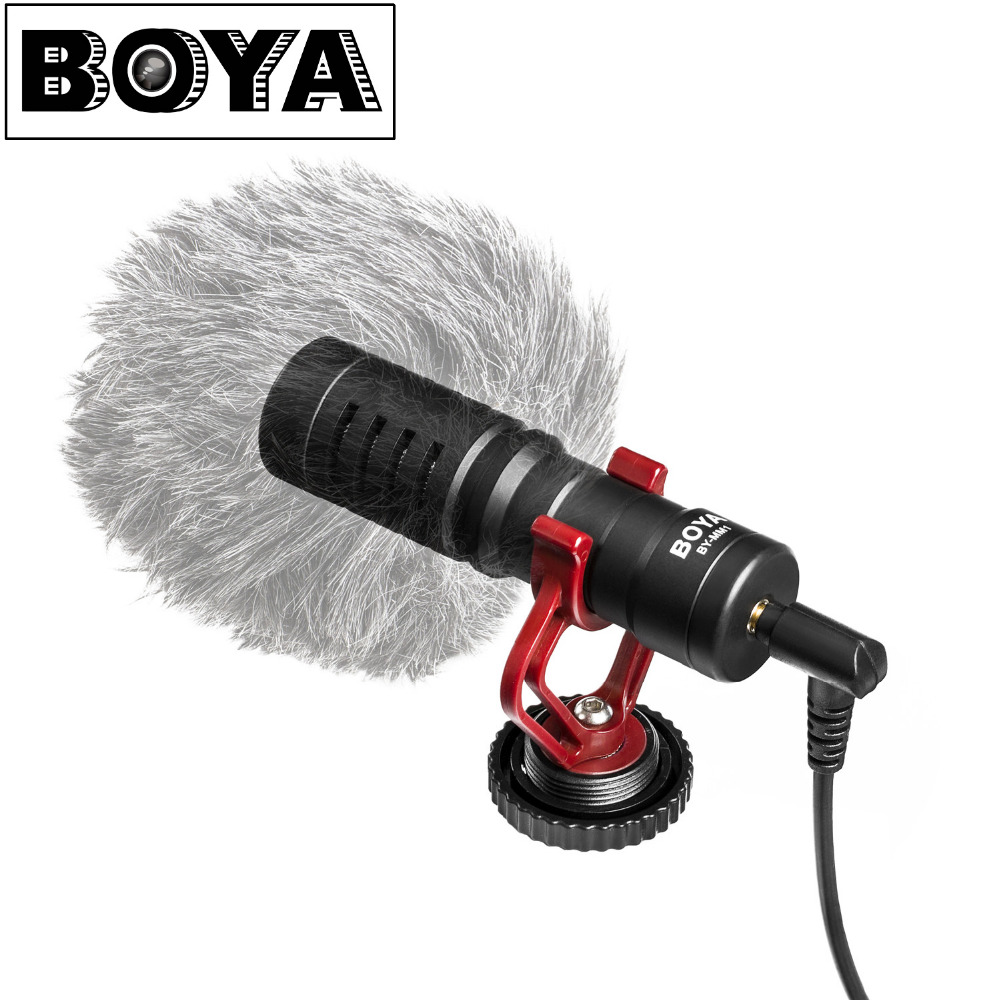 BOYA BY-MM1 Universal VideoMicro Microphone for Smartphone Mac Tablet DSLR Camera zhiyun Smooth 4 Feiyu vimble 2Gimbal VS RODE