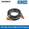 HKIXDISTE 65ft 20 м CCTV кабель BNC видео кабель мощность 20 м для наблюдения безопасности камера DVR система комплект CCTV аксессуары