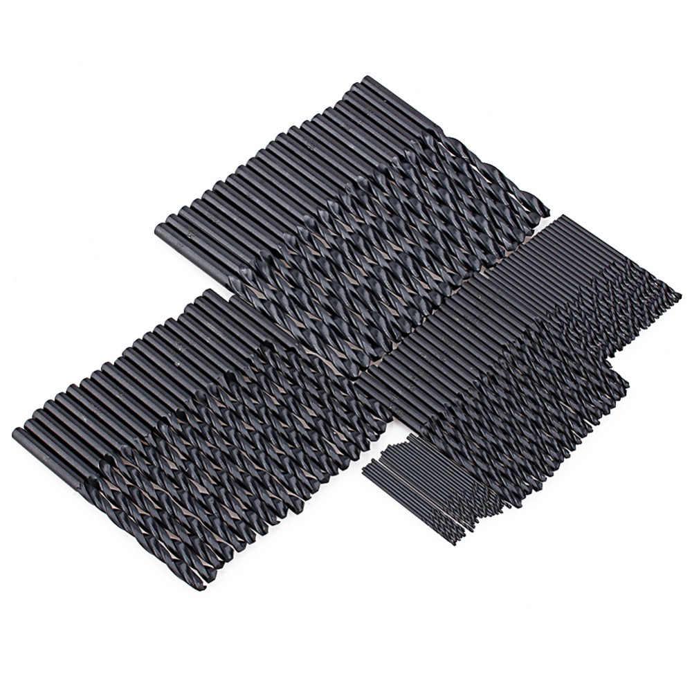 100 Brocas HSS Torção Broca De Perfuração De Metal pçs/set 1mm/2mm/3mm/4mm/5 milímetros Brocas de Metalurgia