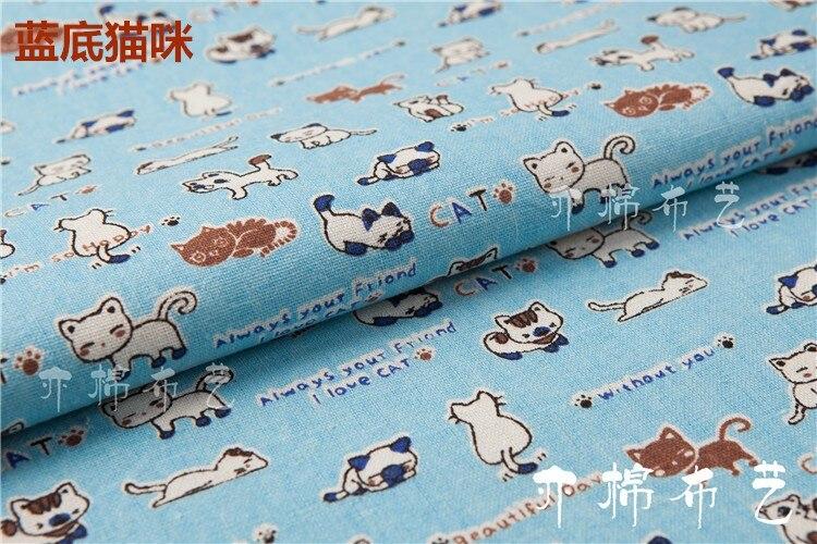 Aliexpress.com : Buy 50x150cm Blue Cat Cotton Fabric Cloth