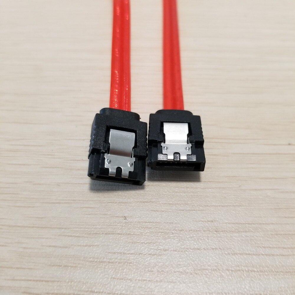 Image 3 - SATA 3th поколения кабель для передачи данных биметаллическая Пряжка медь Core Красный 2 м
