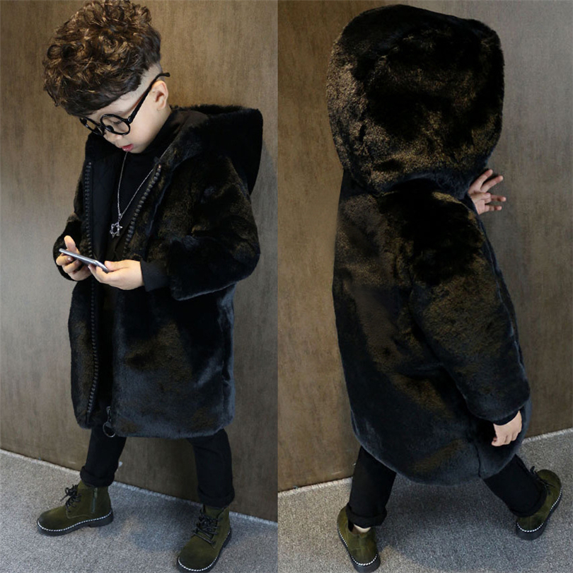 2017 Children Mink hair Fur Coat Winter Warm Fashion Long Stlye Solid Suit Collar Clothing for Boys Girls Jacket for Girls Boys 2017 children wool fur coat winter warm natural 100% wool long stlye solid suit collar clothing for boys girls full jacket t021